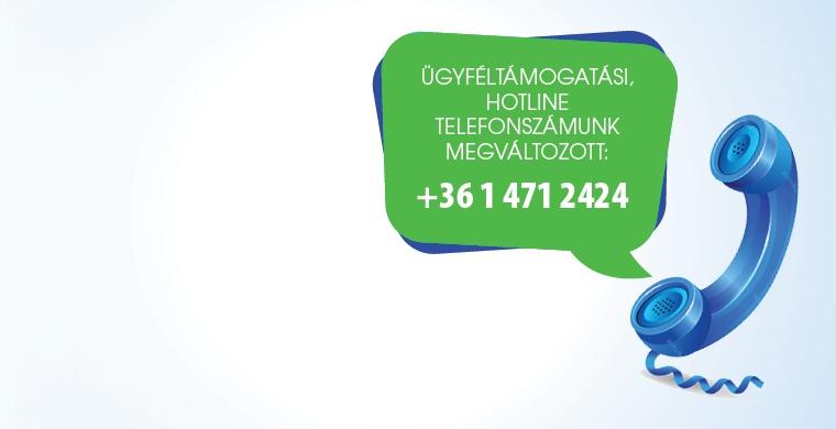 Ügyféltámogatási telefonszám változás