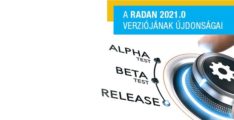 RADAN 2021 legújabb szoftver verzió