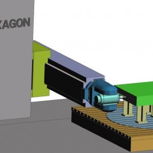 A HEXAGON automatizálja a nagyméretű alkatrészek 6-tengelyes megmunkálását a hatékonyság javítása érdekében